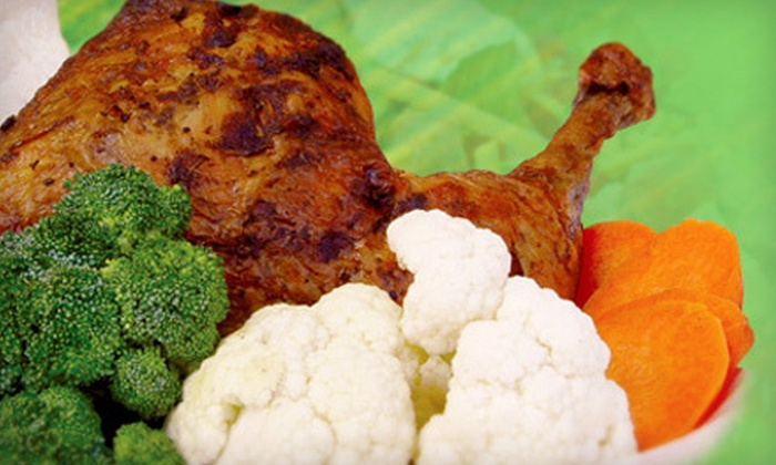 Natural Chicken Grill - Doral: Large Chop Platters for Two or Family Meal with Two Whole Chickens and Sides at Natural Chicken Grill in Doral (Up to 52% Off)