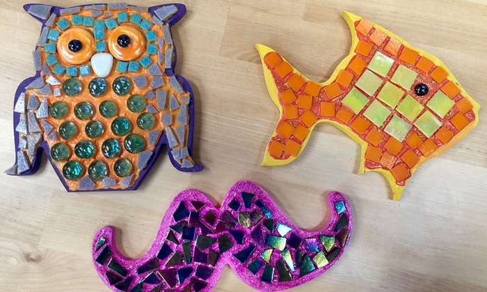 Dare to Dabble & Luna Coffeehouse - North Kansas City:  $45 for a Marvelous Mosaic Design Project at Dare to Dabble & Luna Coffeehouse ($70 Value)