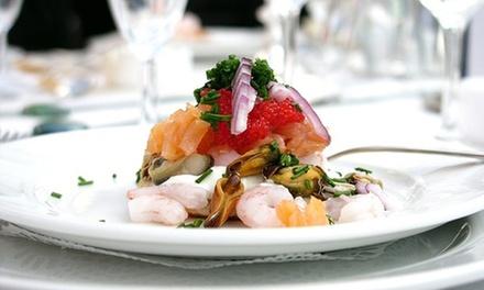 Menu di pesce con calice di vino a 49,90€euro
