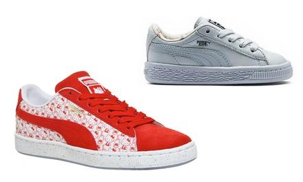 Zapatos Puma para niños de Hello Kitty o T/C Baskets