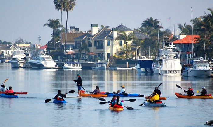 OEX Sunset Beach - Huntington Beach: Rental of a Single Kayak, Double Kayak, or Standup Paddleboard at OEX Sunset Beach (50% Off)