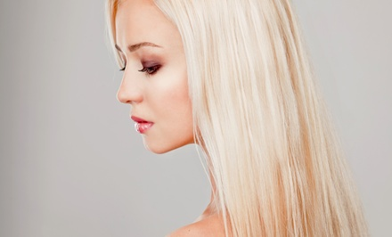 Brazilian Blowout, or Haircut and Style with Optional Highlights from Tiffany at Sage Salon Suites (Up to 53% Off)