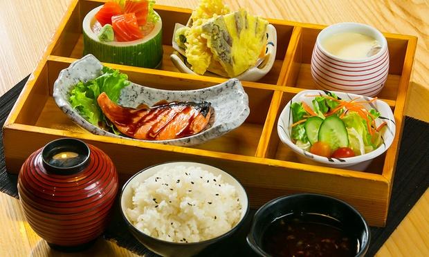 Salmon Shioyaki & Tempura Set