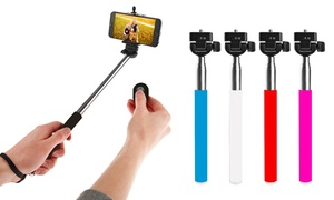 Ihip Bluetooth Extendable Selfie Stick With Wireless Remote Shutter
