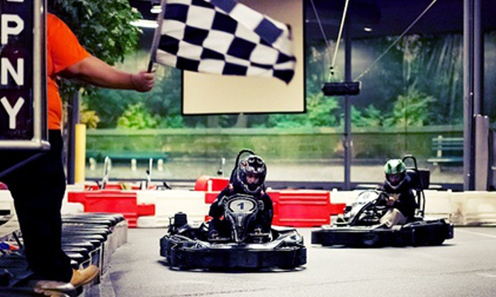Grand Prix New York - Mount Kisco: IndoorGo-Karting and Arcade Package with Two Races for a Child, Teen, or Adult at Grand Prix New York (Up to 46% Off)