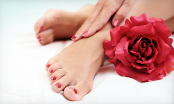 Royal Eminence Beauty Lounge - North Central Pensacola: Mani-Pedis for One or Two at Royal Eminence Beauty Lounge (Up to 55% Off)