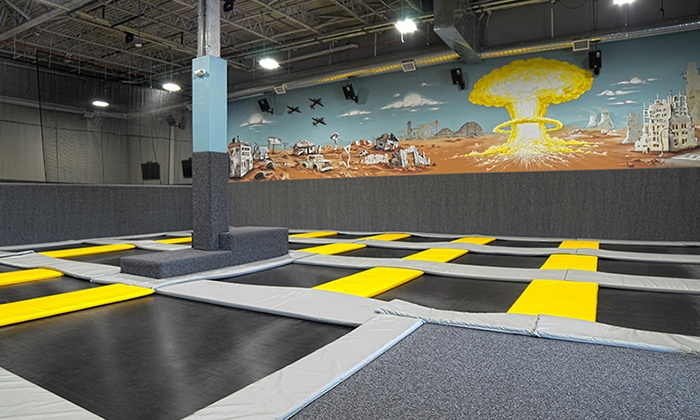 Fallout Trampoline Arena - Fallout Trampoline Arena: $15 for Two One-Hour Jump Passes valid Monday–Friday at Fallout Trampoline Arena ($24 Value)