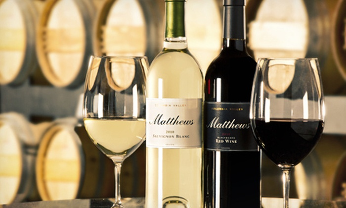 Matthews Estate Winery - Matthews Estate Winery: Wine Tasting for Two or Eight with a Selection of Four Wines at Matthews Estate Winery (Up to 52% Off)