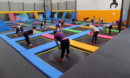 image for Parent and Toddler Entry to iBounce Trampoline Park (25% Off)