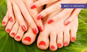Finger Nail Angela: One Regular Mani-Pedi or One Shellac Mani and Regular Pedi at Finger Nail Angela (Up to 55% Off)