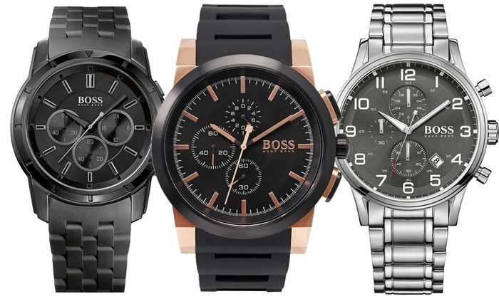 95d239a7c1f999 Montres Hugo Boss Black   Groupon Shopping