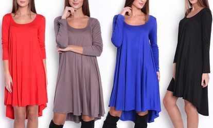 Bei Groupon shoppen Asymmetrisches Kleid Danea 5e29bd34dc