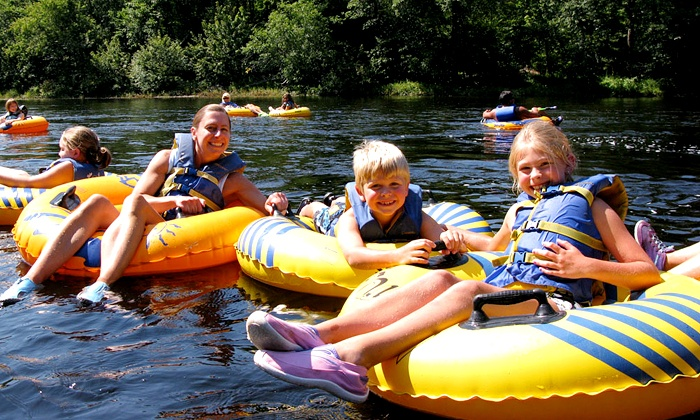 River tubing - a ton of summer splashing fun!