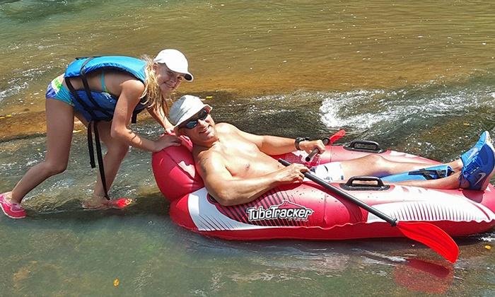 Saluda River Rafting Adventures - Easley East: Inner-Tube or Inflatable Kayak Rental for Two or Four at Saluda River Rafting Adventures (Up to 51% Off)