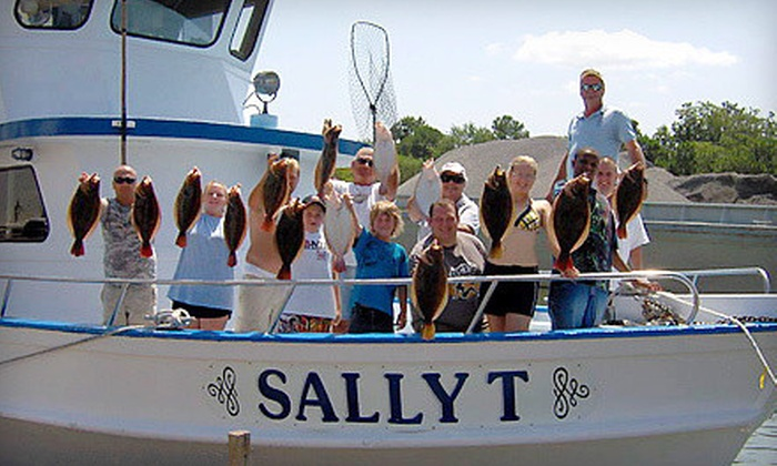 Sally T Fishing - Downtown Hampton: Full-Day Fishing Trip for Two Monday–Thursday or Friday–Sunday from Sally T Fishing (Half Off)