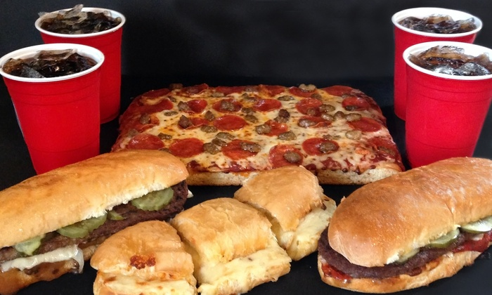 Angilo's Pizza - Harrison: $17 for Italian Feast Family Meal for Four at Angilo's Pizza ($34.98 Value)