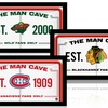 "NHL 6""x12"" Framed Man Cave Signs"