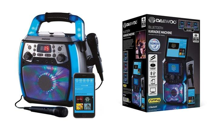 Daewoo Portable Karaoke Machine | Groupon Goods