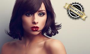 Hegda Hairstyling: Komplett-Haarschnitt für Damen, optional plus Farbe oder Strähnchen, bei Hegda Hairstyling (bis zu 47% sparen*)