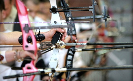 Archery for one: one lesson, 1-hour range time, equipment rental, plus $10 credit
