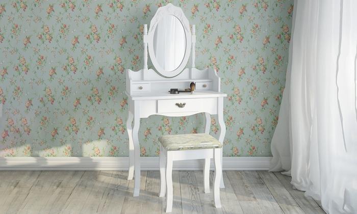 Toilettafel Met Spiegel Wit.Kaptafel Met Spiegel En Verlichting Cool Led Lampen Spiegel Ikea