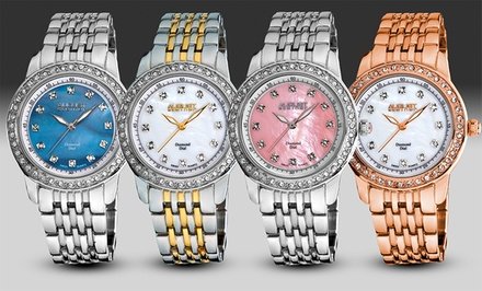 August Steiner Women's Diamond Watches in Rose Gold, Silver, Silver/Pink, or Two Tone.