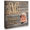 "Custom 18""x18"" or 24""x24"" 3-Letter Monogram and Date Picture Board"