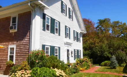 groupon daily deal - Stay at The Blushing Oyster Bed & Breakfast on Cape Cod, MA. Dates into June.