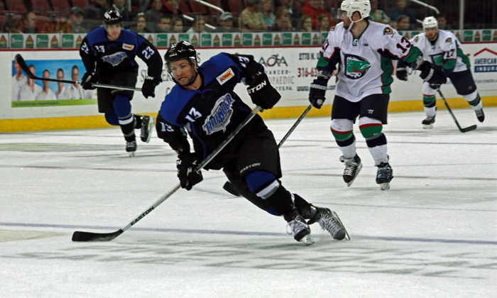 Wichita Thunder - Multiple Locations: Wichita Thunder Hockey Game on Opening Night, Saturday, October 25 at Intrust Bank Arena (Up to 58% Off)