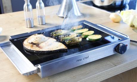 Plancha grill de cristal NewChef por 79,99 € (83% de descuento)
