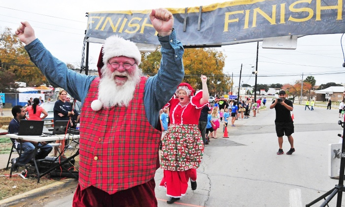 Jingle Bell Run - Downtown San Marcos: Entry for One or Two to Sights & Sounds 5K Jingle Bell Run 2015 on Saturday, December 5 (Up to 40% Off)