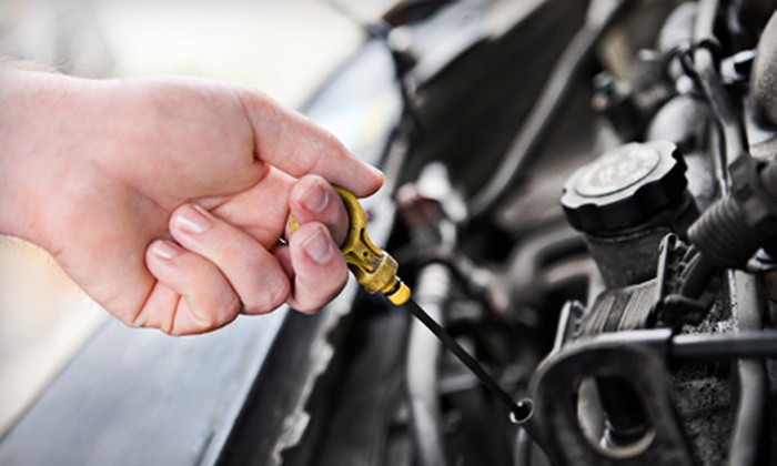 The Oil Exchange - Medical Center: $19 for a Synthetic-Blend Oil Change at The Oil Exchange (Up to $41.98 Value)