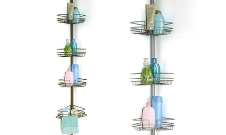 Heavy-Duty Four-Shelf Shower Caddy