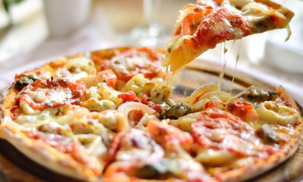 New York–Style Pizza, Pasta, and Drinks at Lorenzo's Pizza & Pasta (Up to 44% Off). Three Options Available.