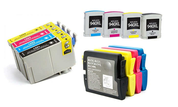 Set of Printer Ink Cartridges Compatible with HP, Brother, Epson and Canon from $25.99–$74.99 (Shipping Included)