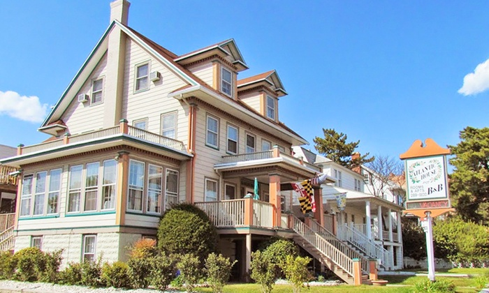 The Atlantic House Bed and Breakfast - Ocean City, MD : 2-Night Stay for Two in any Room at The Atlantic House Bed and Breakfast in Ocean City, MD. Check in Tuesday–Thursday.