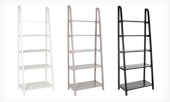 Albert Etagere 5-Shelf Leaning Bookcase: $139.99 for an Albert Etagere 5-Shelf Leaning Bookcase ($257.99 List Price). Multiple Colors Available. Free Shipping.