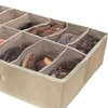 2-Pack of 12-Pair Under-the-Bed Shoe Organizers
