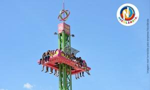 Nicolândia Center Park: Nicolândia Center Park com novas atrações (Drop Zone, Sky Flyer e Magic Cup): passaporte para 1 pessoa