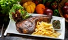 The Dandy Lion - Bradford On Avon: Rib-Eye Steak with Chips, Side Salad and Wine for Two or Four at The Dandy Lion (52% Off)