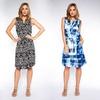 Women's Sleeveless Drawstring-Waist Shirt Dress