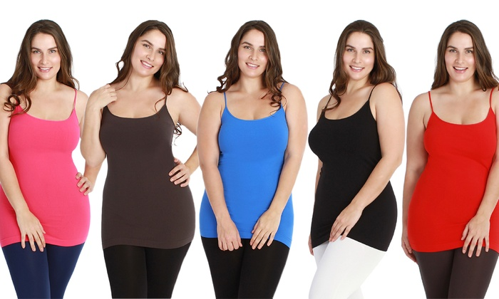b4c50e62661 6-Pack of Women s Plus-Size Slimming Camisoles