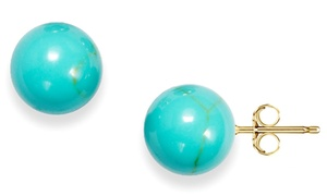 6mm Genuine Turquoise Ball Studs in 14K Gold at 6mm Genuine Turquoise Ball Studs in 14K Gold, plus 6.0% Cash Back from Ebates.
