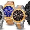 Akribos XXIV Men's Multifunction Stainless Steel Watch