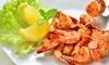 Menu di mare con frittura e vino