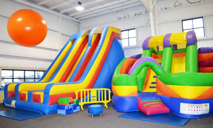 World Of Bounce - Grove City: Two or Four Open-Bounce Visits with Drinks at World Of Bounce (Up to 35% Off)