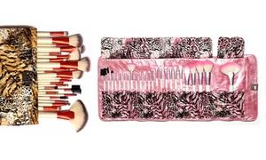 Fierce Tiger Or Pink Leopard 24pc Brush Set