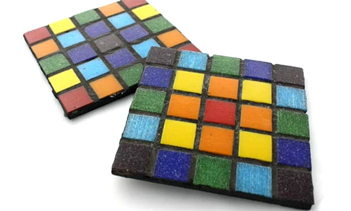 Austin Handmade Arts Market - Downtown: Glass-Mosaic Coaster-Making Class for One or Two at Austin Handmade Arts Market (Up to 53% Off)