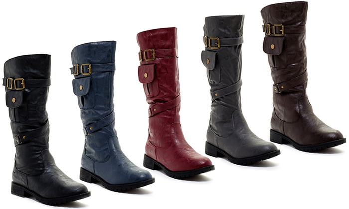 Coastal Auto Group >> Carrini Women's Pocket Boots (Size 6)   Groupon