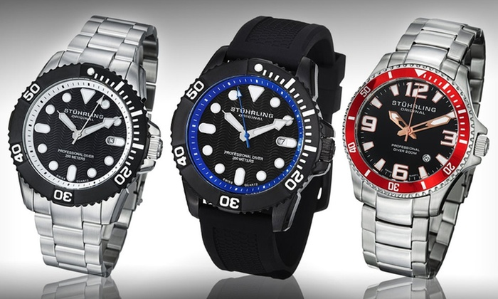 Stuhrling Original Men's Professional Diver Watches: Stuhrling Original Men's Professional Diver Watches (Up to 90% Off). 11 Options Available. Free Shipping.
